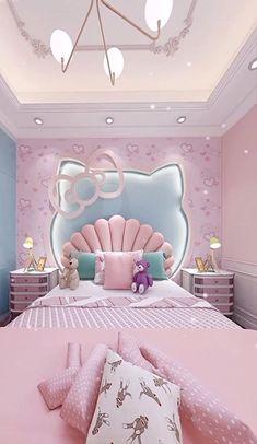 Small Room Design Bedroom, Girls Room Design, Pink Bedroom Decor, Kids Bedroom Designs, Bedroom Decor For Teen Girls, Cute Bedroom Ideas, Bedroom Furniture Design, Room Ideas Bedroom, Baby Room Decor