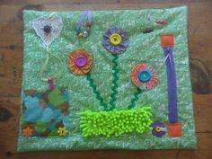 SOLD - Fidget Blanket Sensory Tactile Quilt for Alzheimer's, Dementia, Stroke, Autism