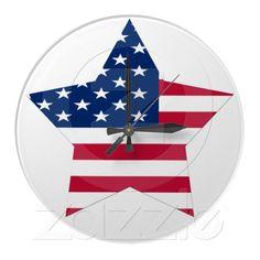 USA Star Flag clock from Zazzle.com