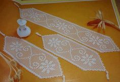 Crochet Bikini Pattern, Crochet Doily Patterns, Crochet Doilies, Crochet Table Runner, Crochet Tablecloth, Filet Crochet, Diy Crochet, Crochet Books, Learn To Crochet