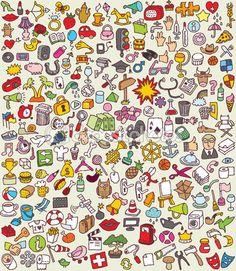 XXL Doodle Icons Set — Stock Illustration #22365225