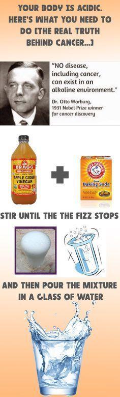1/3 tsp of baking soda 2 tbsp of lemon juice or apple cider vinegar