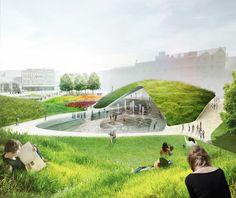 sloping planes, hills // Aberdeen City Garden Diller Scofidio + Renfro  Park life: the evolving approach to designing urban public space