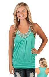 Tank with pearl and bead neckline. This would be so pretty under a cardigan. Cute Clothes For Juniors, Clothes For Women, Cute Fashion, Fashion Outfits, Junior Outfits, Junior Clothes, Teenage Girl Outfits, Cute Tops, Passion For Fashion