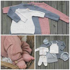 Det nye heftet fra kommer for salg i… Knitting For Kids, Baby Knitting Patterns, Baby Patterns, Crochet Baby, Knit Crochet, Baby Layette, Dere, Baby Makes, Crochet Fashion
