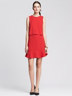 Crepe Cutout Dress Product Image
