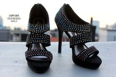 DIY Faux Beaded Heels