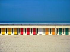 Les cabines de la plage.,Le Touquet, Pas-de-Calais.