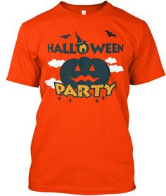 Halloween Party Orange T-Shirt Front