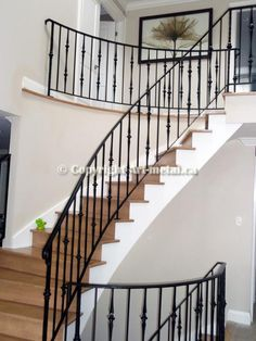 Wrought Iron Stair Railings, San Mateo/ Redwood City   Porches And Railings    Pinterest   Wrought Iron Stairs And Railings