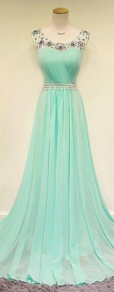 Custom Beaded Long Prom Dress Formal Dress Evening Dress Party Press Wedding Party Dress Mint Bridesmaid Dress Mint Prom Dresses Mint Dresses