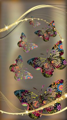 Gold and Colorful Butterfly Wallpaper Butterfly Wallpaper Iphone, Cellphone Wallpaper, Galaxy Wallpaper, Wallpaper Backgrounds, Iphone Wallpaper, Beautiful Nature Wallpaper, Love Wallpaper, Colorful Wallpaper, Screen Wallpaper