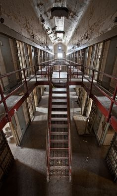 Abandoned America (looks like the inside of a prison)