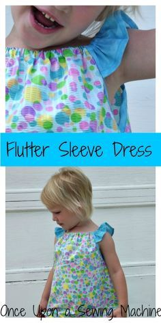 Flutter Sleeves: A variation for the free Peasant Dress - Once Upon a Sewing Machine : Free sewing pattern for girls! This is a perfect beginner sewing project. A fun variation on the peasant dress and pillow case dress. Sewing Patterns For Kids, Sewing For Kids, Baby Sewing, Free Sewing, Girls Dress Patterns Free, Toddler Dress Patterns, Sewing Ideas, Peasant Dress Patterns, Pillowcase Dress Pattern