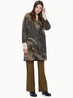 Le manteau tricot camouflage | Simons