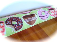 Cover for door draft stopper, featuring donuts. www.createdbycath.com #door draft stopper #door sausage #draft excluder #door snake