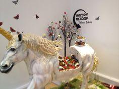 Baketopia: Giant Unicorn Made from Rainbow Cake Photos Of The Week, Unicorns, Rainbow, Cakes, Christmas Ornaments, Holiday Decor, Blog, Xmas Ornaments, Rainbows
