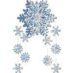 Snowflake decorations 3-D Snowflake Mobile
