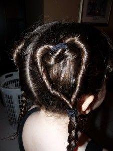 Easy Valentine's Day Heart Ponytail Hairdo