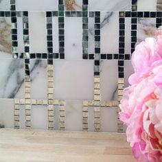 Kelli Ellis Kasos Marble and Mirror Marble and Glass Tile - Kelli Ellis - Designer Collections