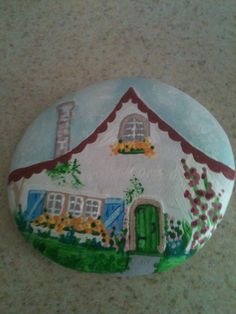 Cottage, Rock Painting E. R. 2014