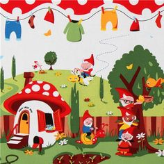 Michael Miller fabric Gnomeville -site with adorable fabric selection