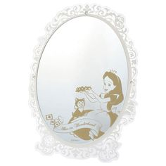 Disney Japan Alice in Wonderland Dinah Stand Mirror White & Gold for sale online Disney Store Japan, Standing Mirror, Gold For Sale, Venetian Mirrors, Alice In Wonderland, White Gold, Ebay, Animation, Character