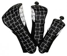 Check out our Black and White  Basketweave Glove It Ladies 3-Piece Set Golf Club Covers! Find the best golf gear and accessories at Lori's Golf Shoppe. Click through now to see this!