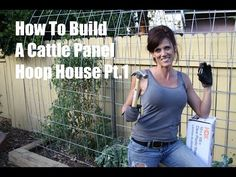 How to build a DIY cattle panel hoop house - Part 1 - I show you how to install the cattle panel in place over a raised bed.  This is a super easy way to grow during cold weather or get an early start on your spring garden!