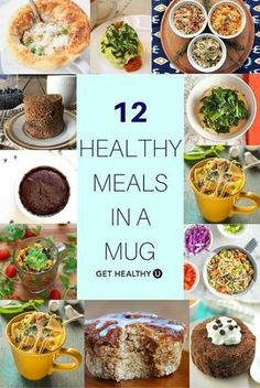 these 12 healthy and delicious meal in a mug recipes for single serving nutritious meals that taste amazing!Try these 12 healthy and delicious meal in a mug recipes for single serving nutritious meals that taste amazing! Healthy Diet Recipes, Gourmet Recipes, Snack Recipes, Cooking Recipes, Healthy Food, Eating Healthy, Get Healthy, Free Recipes, Cooking Bacon