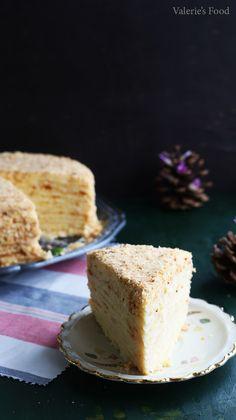 TORT NAPOLEON I Rețetă + Video - Valerie's Food Napoleon, Vanilla Cake, Desserts, Food, Birth, Sweets, Pretzels, Tailgate Desserts, Deserts