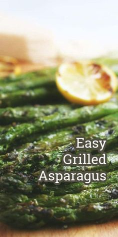 Grilled Asparagus - Made easily in minutes on your grill and a healthy side dish for potlucks and barbecues!