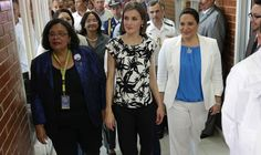 Queen Letizia of Spain visited the Universidad Nacional Autonoma de Honduras on May 26, 2015 in Tegucigalpa. (Queen Letizia of Spain started a two-day visit to Honduras to supervise Spanish cooperation programs in the country.)
