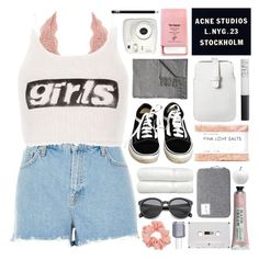 """""""they're just girls breaking hearts"""" by untake-n ❤ liked on Polyvore featuring Charlotte Russe, River Island, Alexander Wang, Vans, Fig+Yarrow, Miss Selfridge, Pier 1 Imports, Acne Studios, Fujifilm and Mossimo"""