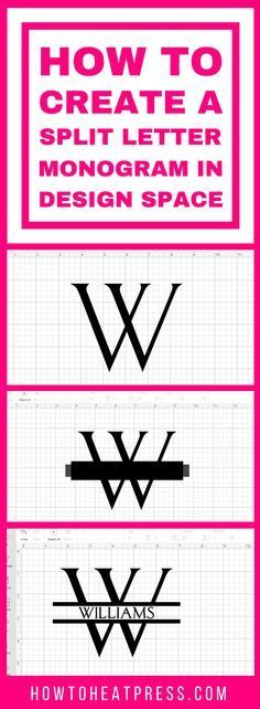 How to create a split letter monogram in Cricut Design space