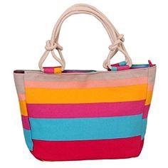 Bolso playa rayas colores
