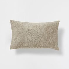 EMBROIDERED COARSE CUSHION - Decorative Pillows - Decor and pillows   Zara Home United States