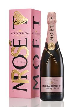 A great twist on a classic! Moet Rose!