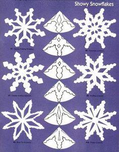 flocos de neve - recortes