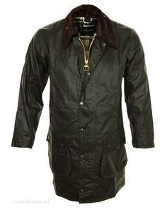 Barbour Men's Border Wax Jacket - Sage MWX0008SG91 (A330)