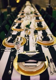 black and gold place setting www.betterafter.net