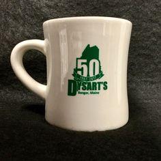 Dysarts Truck Stop Mug Anniversary Bangor Maine ME Diner Coffee Cup Heavy Bangor Maine, 50 Anniversary, Ecommerce Shop, Mugs For Men, Coffee Drinkers, Mug Cup, Tea Mugs, 50th, Madness