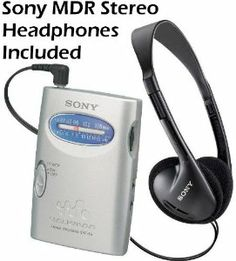 """Sony Walkman Compact Portable Lightweight AM/FM Stereo Radio with Convenient Belt Clip & Over the Head Stereo Headphones - Designed for Jogging, Walking, Exercising & Bike Riding by Sony. $16.95. Listen to a wide range of programming music with this AM/FM Walkman radio & it's so lightweight you can take it virtually anywhere. Delivering great sound in a small package, this stereo features an AM/FM tuner and an easy-to-use tuning knob. One (1) """"AA"""" battery provides ..."""
