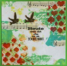 Mixed-Media-Mittwoch, Vogel / Vögel - No. 3 - Mach mit und nimm die Herausforderung an! Zeige Deine Mixed-Media-Idee mit einem Vogel oder mit Vögeln. - Daniela Rogall