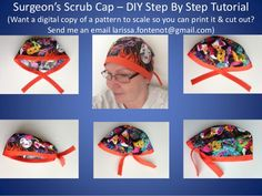 Scrub Caps Printable Pattern and How To DIY Tutorial (version 2) - Le…