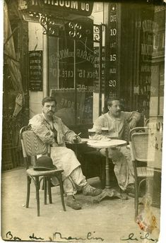 France. Café Bar du Moulin 1 rue Lepic, Paris, 1911 http://www.pinterest.com/micahcornell/forever-ago/