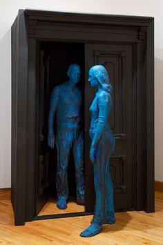 Couple in Open Doorway by George Segal › Williams College Museum of Art George Segal, William College, Animal Sculptures, Bronze Sculpture, Art Museum, Art Projects, Contemporary Art, Fine Art, Doorway
