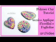 ▶ Polymer Clay Tutorial   Modellazione di Fiorellini e Foglioline   Fluo Colors   Applique - YouTube