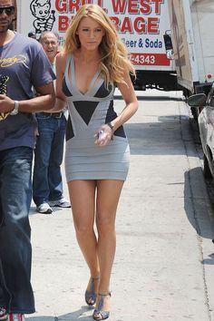 Blake Lively bandage dress style
