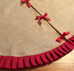 63 Ruffled Burlap Christmas Tree Skirt by simplyfox on Etsy